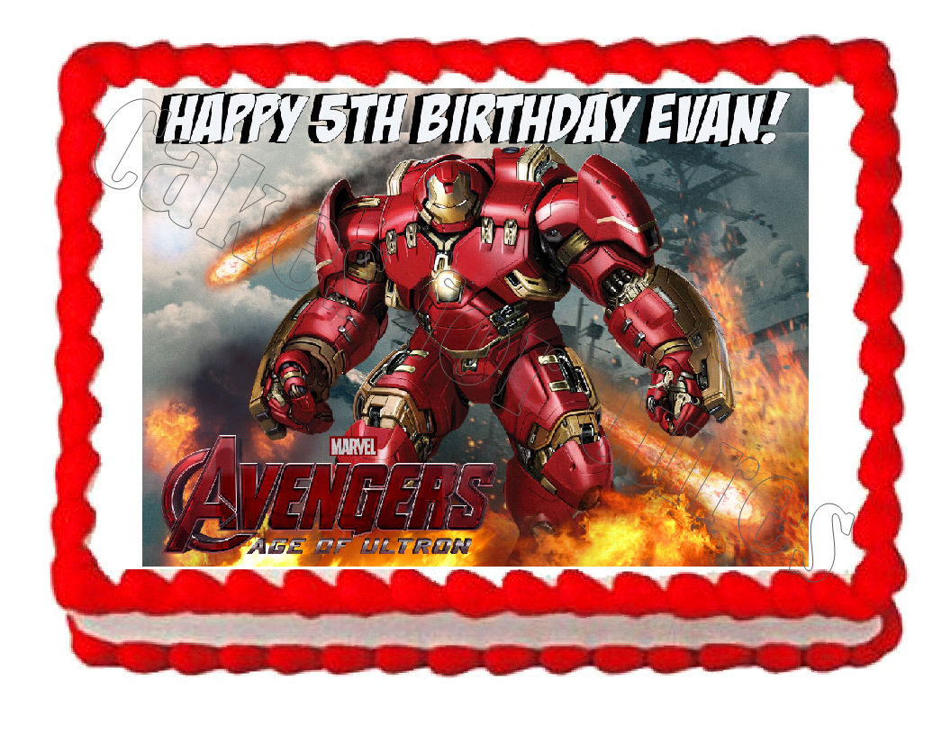 Avengers Hulkbuster Edible Cake Image Cake Topper - Cakes For Cures