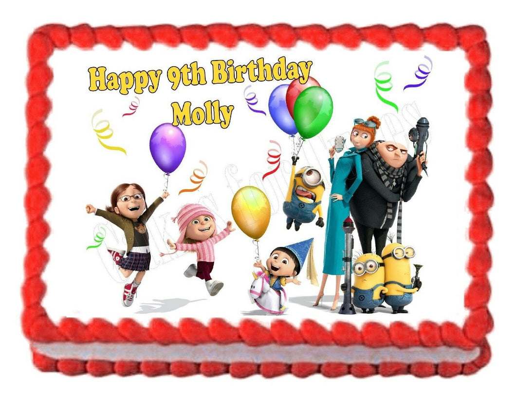Despicable Me Edible Cake Image Cake Topper - Cakes For Cures