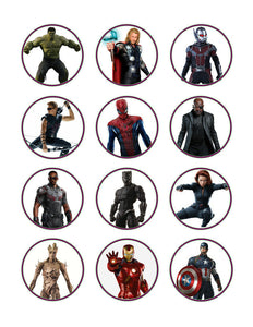 Avengers Edible Cupcake Toppers - Cakes For Cures