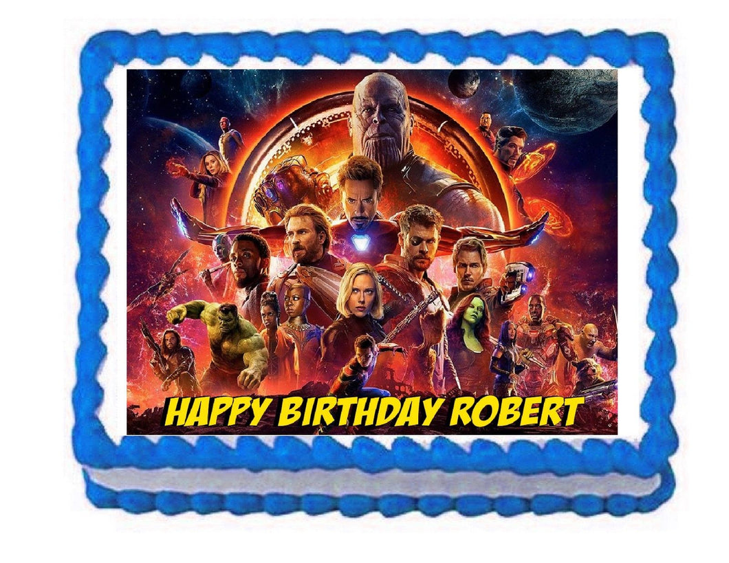 Avengers Infinity War Edible Cake Image Cake Topper - Cakes For Cures