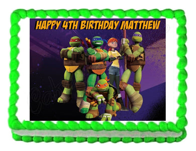 TMNT Teenage Mutant Ninja Turtles Edible Cake Image Cake Topper - Cakes For Cures