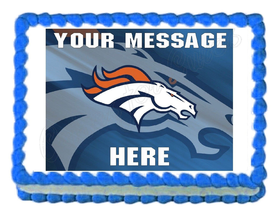 Denver Broncos Football Edible Cake Image Cake Topper - Cakes For Cures