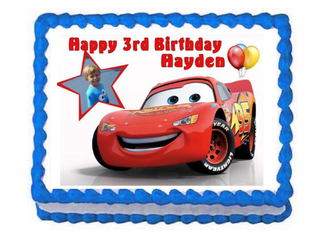 Cars Lightning McQueen Edible Cake Image Cake Topper - Cakes For Cures