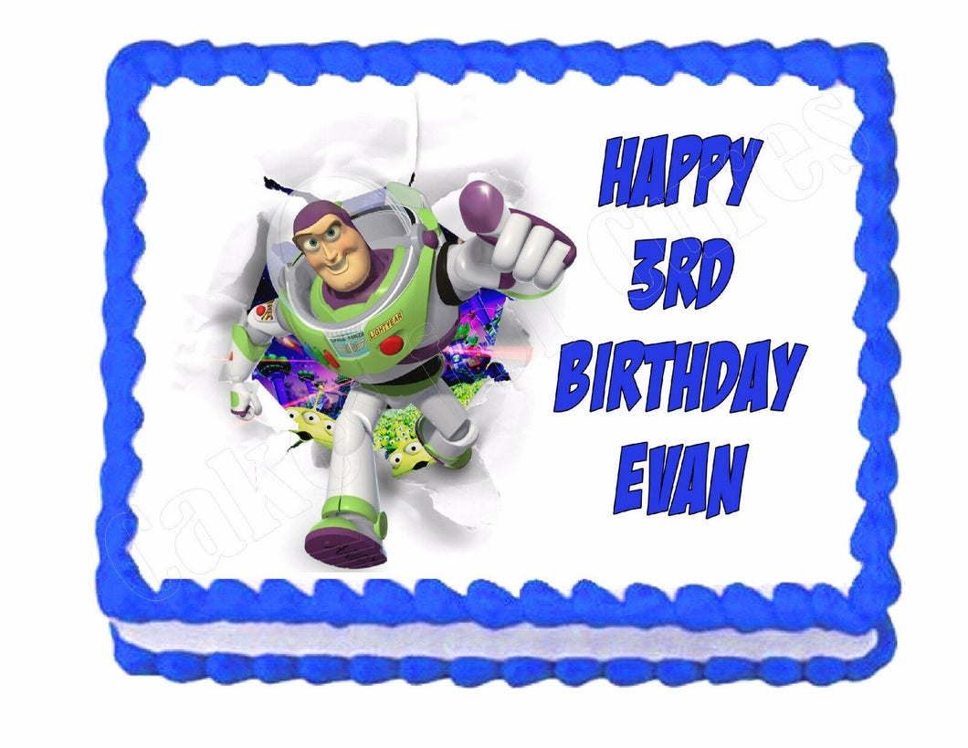 Buzz Lightyear Toy Story edible cake image frosting sheet party decoration - Cakes For Cures