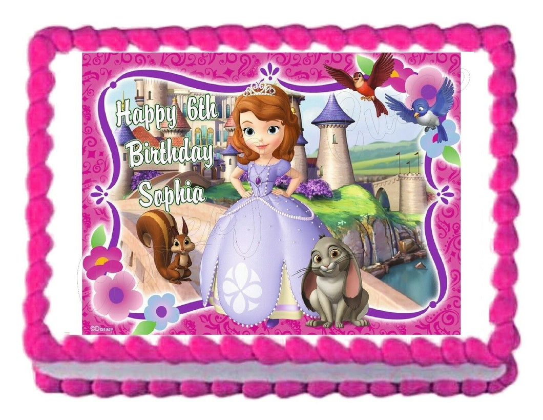 Sofia the First Princess Edible Cake Image Cake Topper - Cakes For Cures