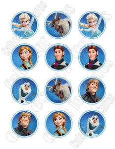 Frozen Edible Cupcake Images - Cupcake Toppers - Cakes For Cures