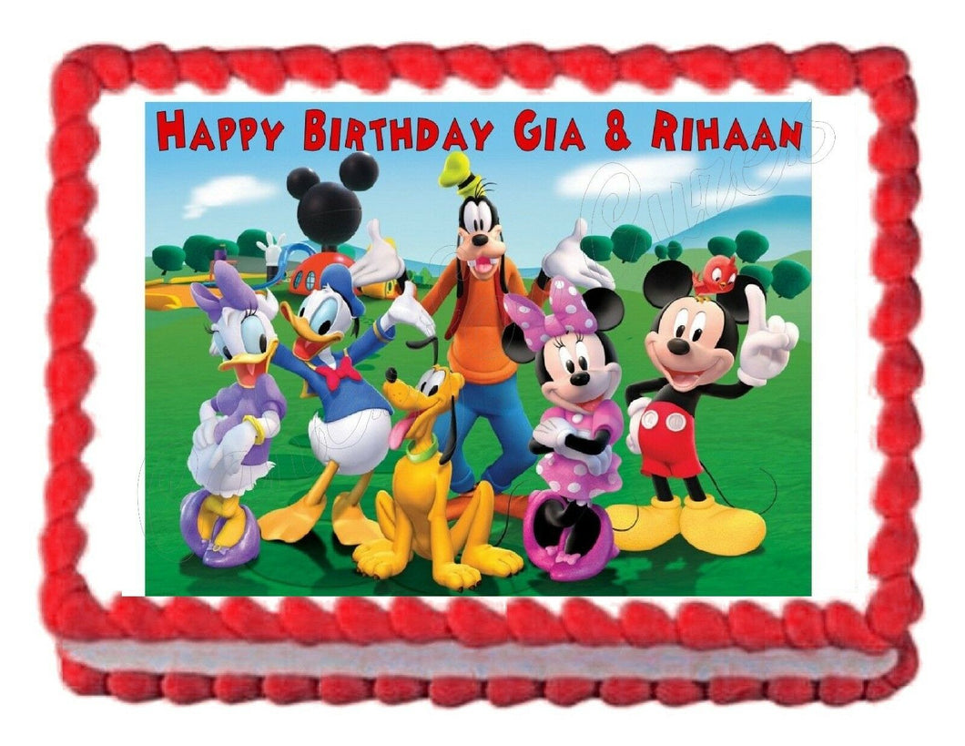 Mickey Mouse Clubhouse Edible Cake Image Cake Topper - Cakes For Cures