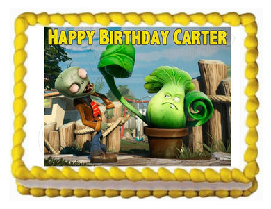 Plants Vs. Zombies Edible Cake Image Cake Topper - Cakes For Cures