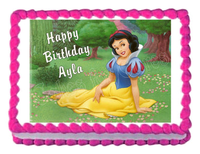 Snow White Princess Edible Cake Image Cake Topper - Cakes For Cures