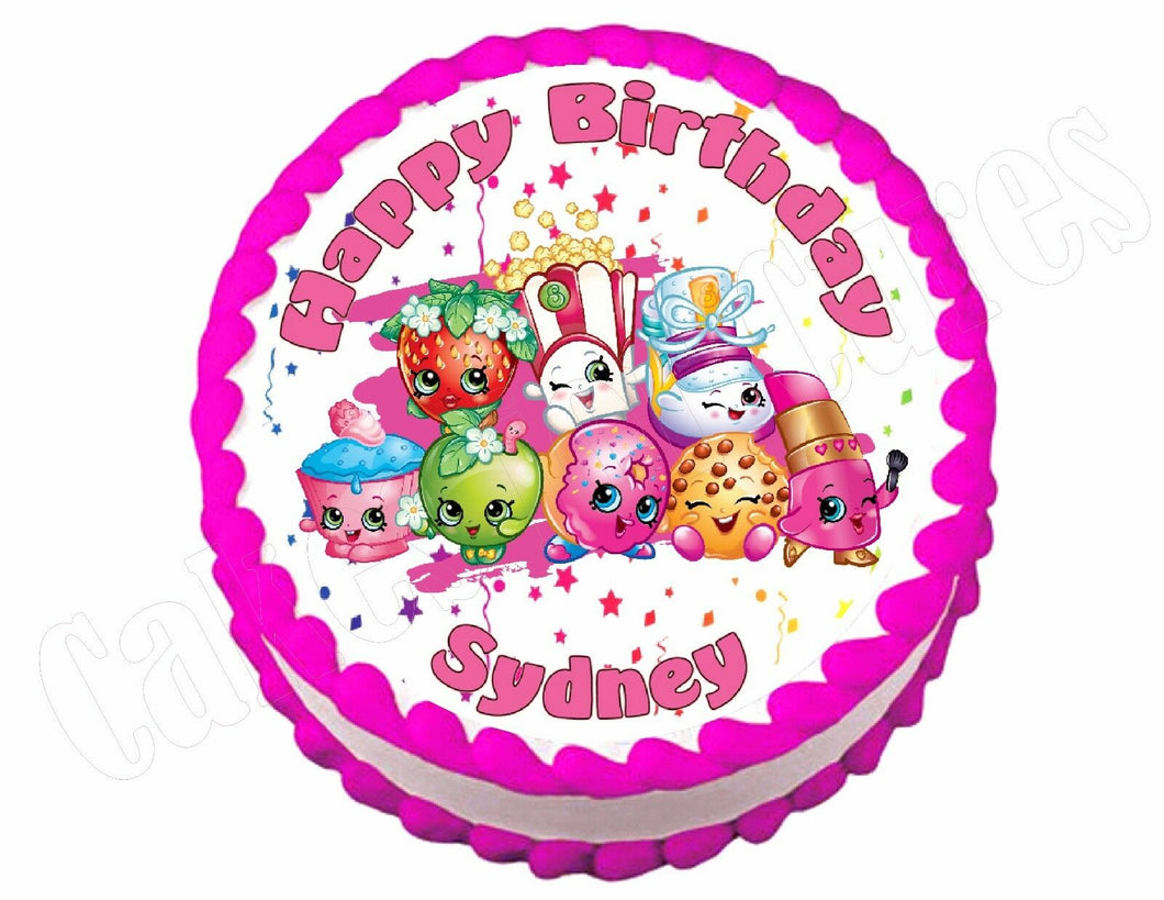 Shopkins Round Edible Cake Image Cake Topper - Cakes For Cures