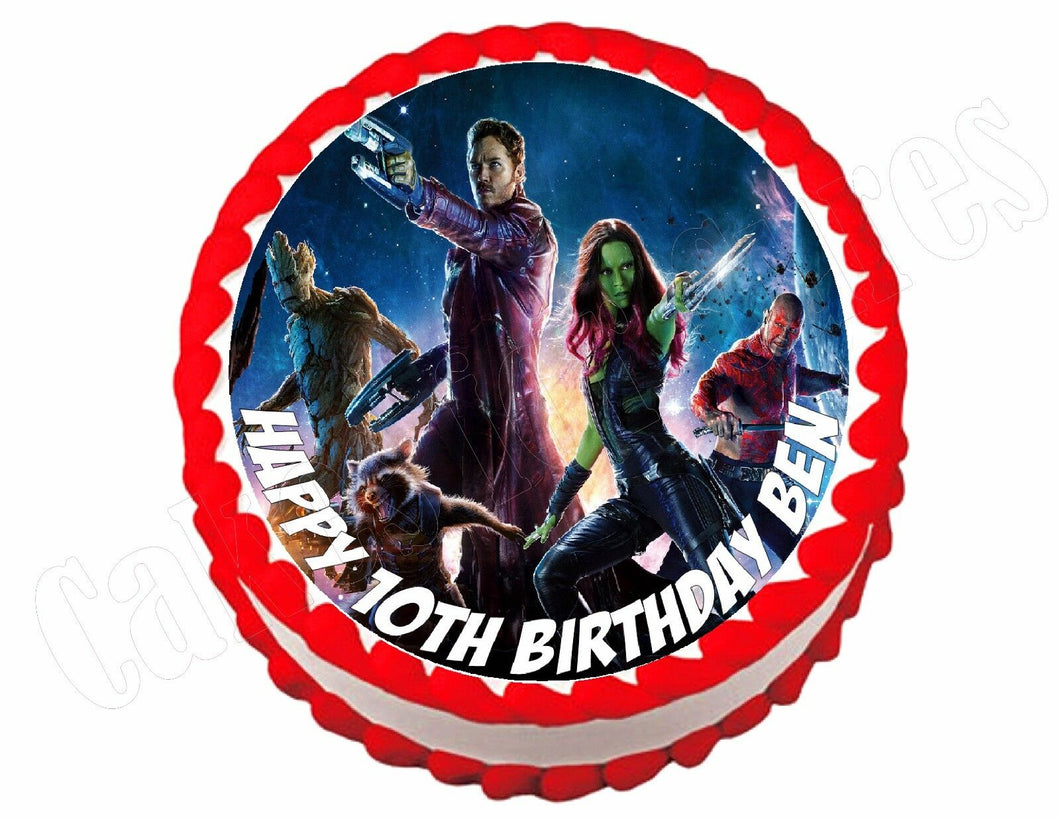 Guardians of the Galaxy Avengers Round Edible Cake Image Cake Topper - Cakes For Cures
