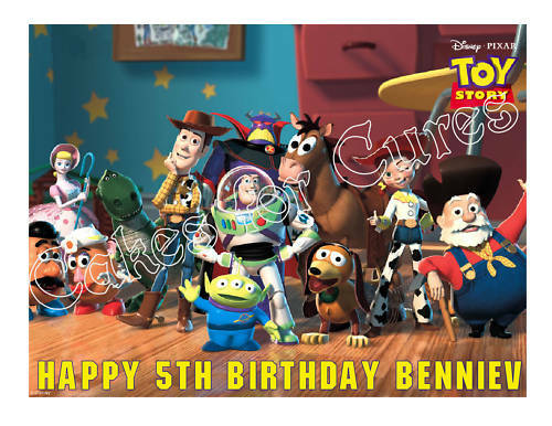 Toy Story Buzz, Woody, Jessie Edible Cake Image Cake Topper - Cakes For Cures
