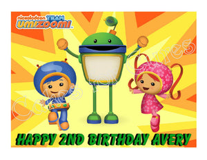 Team UmiZoomi Edible Cake Image Cake Topper - Cakes For Cures