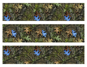 Mossy Oak Camo with Blue Leaves Edible Cake Strips - Cake Wraps - Cakes For Cures