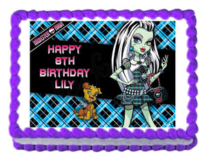 Monster High Frankie Stein Edible Cake Image Cake Topper - Cakes For Cures