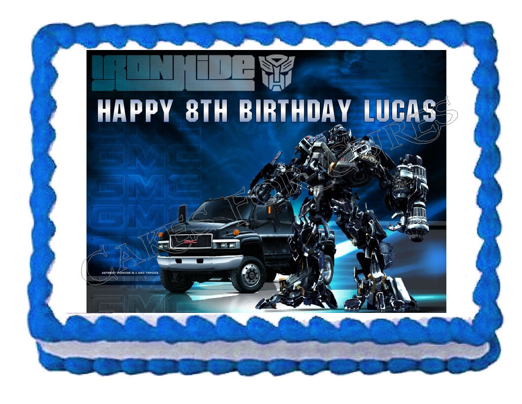 TRANSFORMERS IRONHIDE party decoration edible cake image frosting sheet topper - Cakes For Cures
