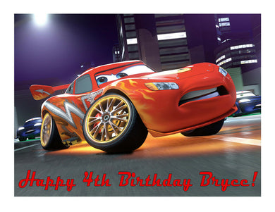 Lightning McQueen Cars Edible Cake Image Cake Topper - Cakes For Cures