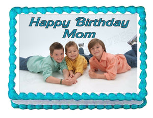 Your Personalized PHOTO edible cake image cake topper party decoration - Cakes For Cures