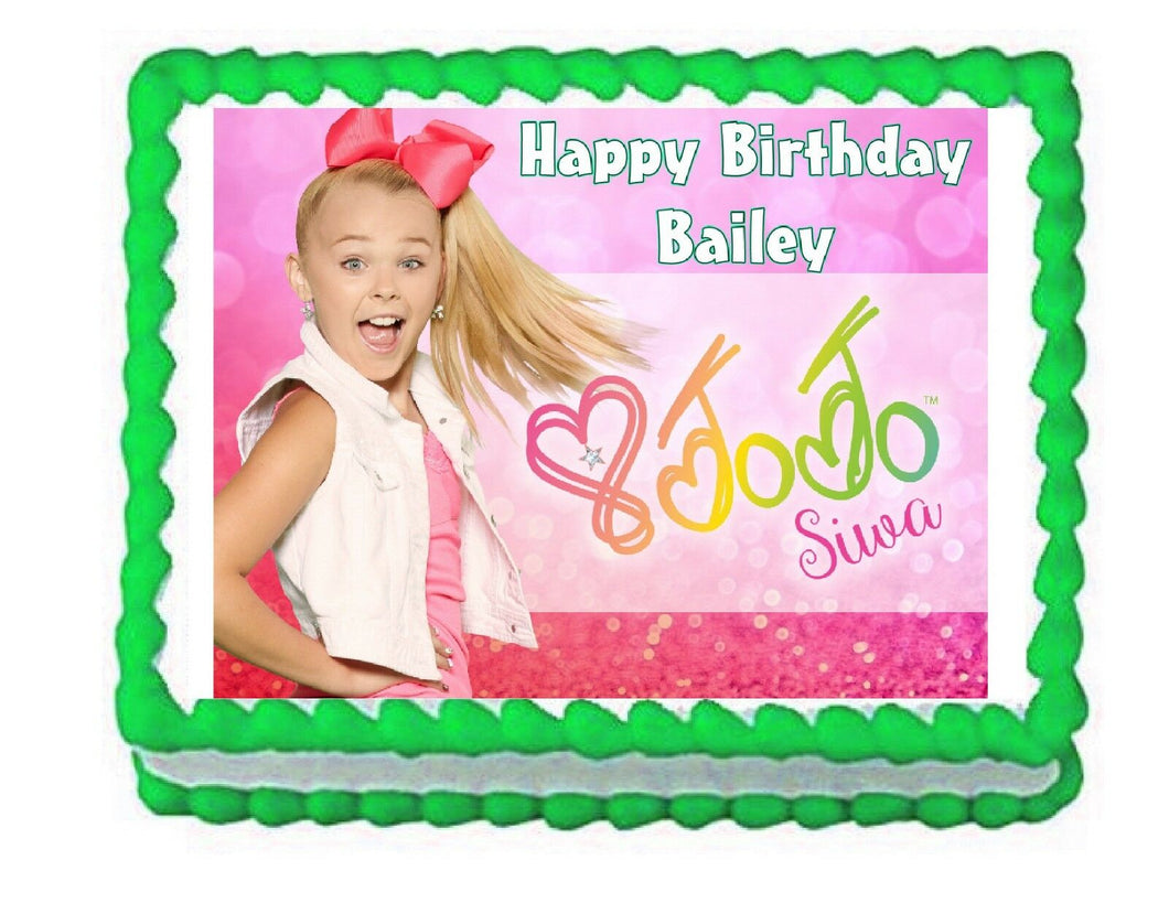 JoJo Siwa Edible Cake Image Cake Topper - Cakes For Cures