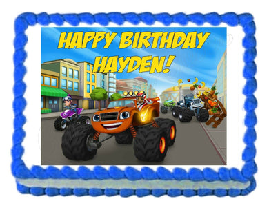 Blaze and the Monster Machines Edible Cake Image Cake Topper - Cakes For Cures