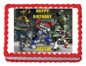 TRANSFORMERS PRIME edible party cake topper cake image sheet decoration - Cakes For Cures