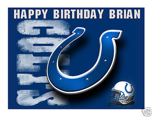 Indianapolis Colts Edible Cake Image Cake Topper - Cakes For Cures