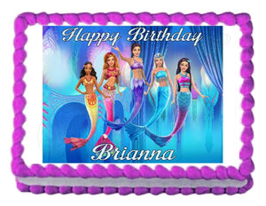 Barbie - A Mermaid's Tale Edible Cake Image Cake Topper - Cakes For Cures