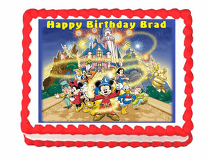 Mickey Mouse Disney World Disney Land Edible Cake Image Cake Topper - Cakes For Cures