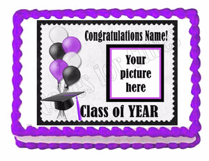 Custom Graduation edible party decoration cake topper decoration frosting sheet - Cakes For Cures