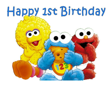 Baby Sesame Street Edible Cake Image Cake Topper - Cakes For Cures