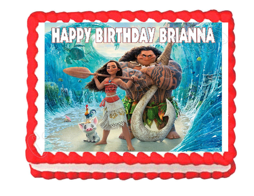 Princess Moana Party Edible Cake Image Cake Topper - Cakes For Cures