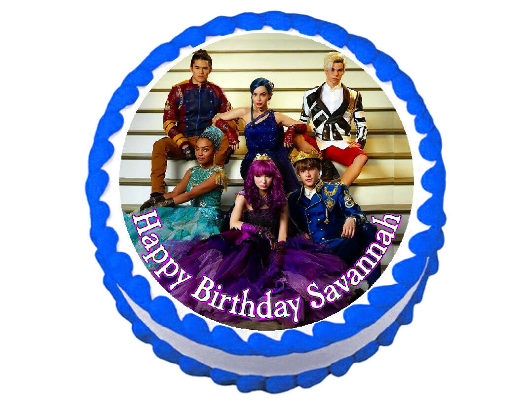 Disney Descendants Round Edible Cake Image Cake Topper - Cakes For Cures