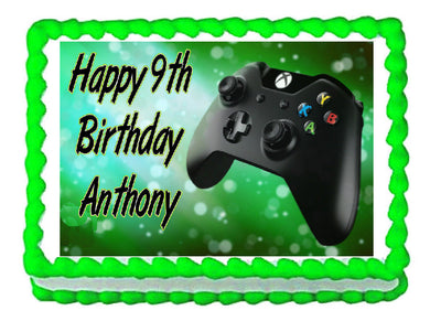 Xbox Gaming remote controller party edible cake topper frosting sheet - Cakes For Cures