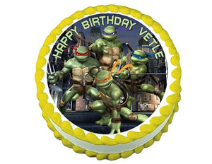 TMNT Teenage Mutant Ninja Turtles Round Edible Cake Image Cake Topper - Cakes For Cures