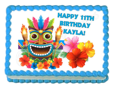 Tiki - Hula Hawaiian Edible Cake Image Cake Topper - Cakes For Cures