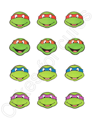 TMNT Teenage Mutant Ninja Turtles Edible Cupcake Images Cupcake Toppers - Cakes For Cures