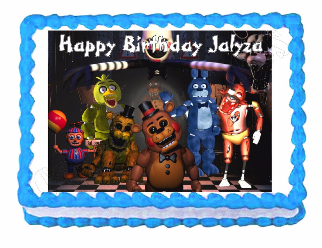 Five nights at Freddy's FNaF Edible Cake Image Cake Topper - Cakes For Cures