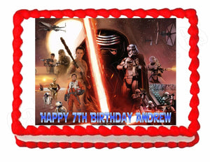 Star Wars The Force Awakens Edible Cake Image Cake Topper - Cakes For Cures