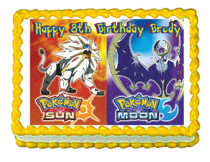 Pokemon Sun and Moon Edible Cake Image Cake Topper - Cakes For Cures