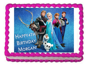 Frozen Edible Cake Image Cake Topper - Cakes For Cures