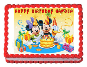 Mickey Mouse Edible Cake Image Cake Topper - Cakes For Cures