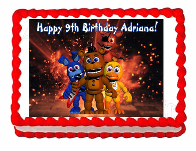 Five nights at Freddy's FNaF 2 Edible Cake Image Cake Topper - Cakes For Cures