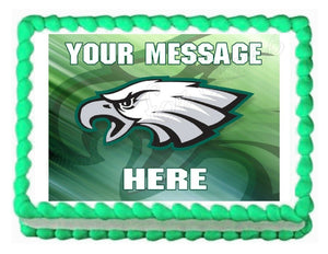 Philadelphia Eagles Football Edible Cake Image Cake Topper - Cakes For Cures