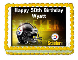 Pittsburgh Steelers Football Edible Cake Image Cake Topper - Cakes For Cures