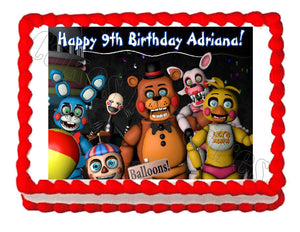 Five nights at Freddy's FNaF 3 Edible Cake Image Cake Topper - Cakes For Cures