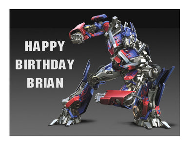 Transformers Optimus Prime edible cake image sheet party decoration topper - Cakes For Cures