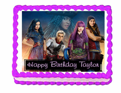 Disney Descendants 2 Edible Cake Image Cake Topper - Cakes For Cures