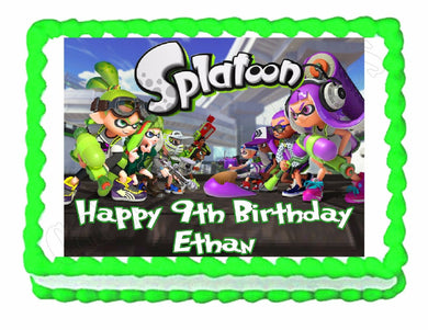 Splatoon Gaming Edible Cake Image Cake Topper - Cakes For Cures