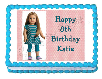 American Girl McKenna Edible Cake Image Cake Topper - Cakes For Cures