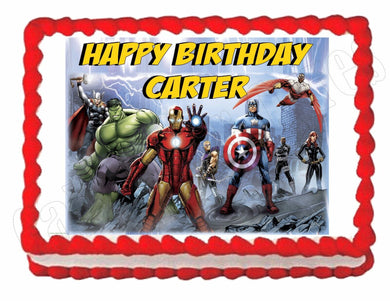 Avengers Cartoon Comic Edible Cake Image Cake Topper - Cakes For Cures